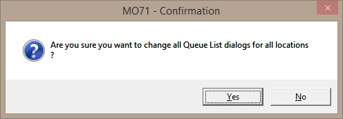 MO71 Change global Queue List attributes Confirmation
